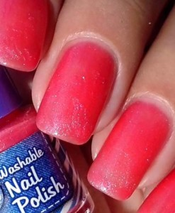 Washable Nail Polish Fuscia Swatches - Washable Nail Polish