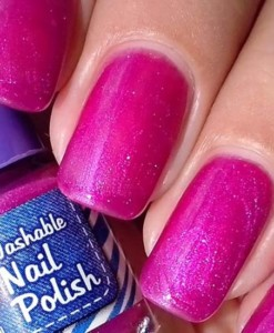 Washable Nail Polish Purple Swatches - Washable Nail Polish