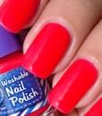 Washable Nail Polish Red Swatches – Washable Nail Polish