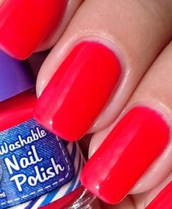 Washable Nail Polish Red Swatches - Washable Nail Polish