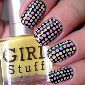 Nail Arts – Fun Dotticure over Twilight - Nail Art Tutorials