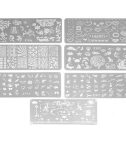 Rectangular Stamping Plates - Nail Art Tools