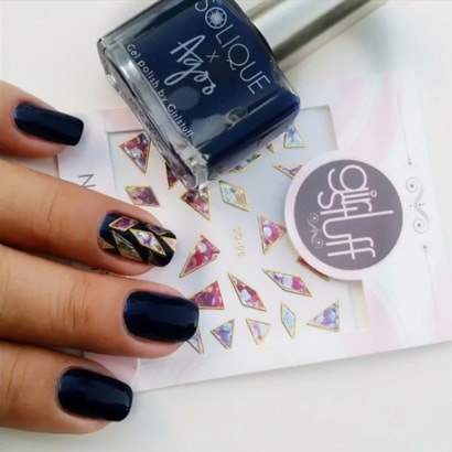 Shattered Glass Mani made easy with Girlstuff Nail Stickers - Nail Art Tutorials