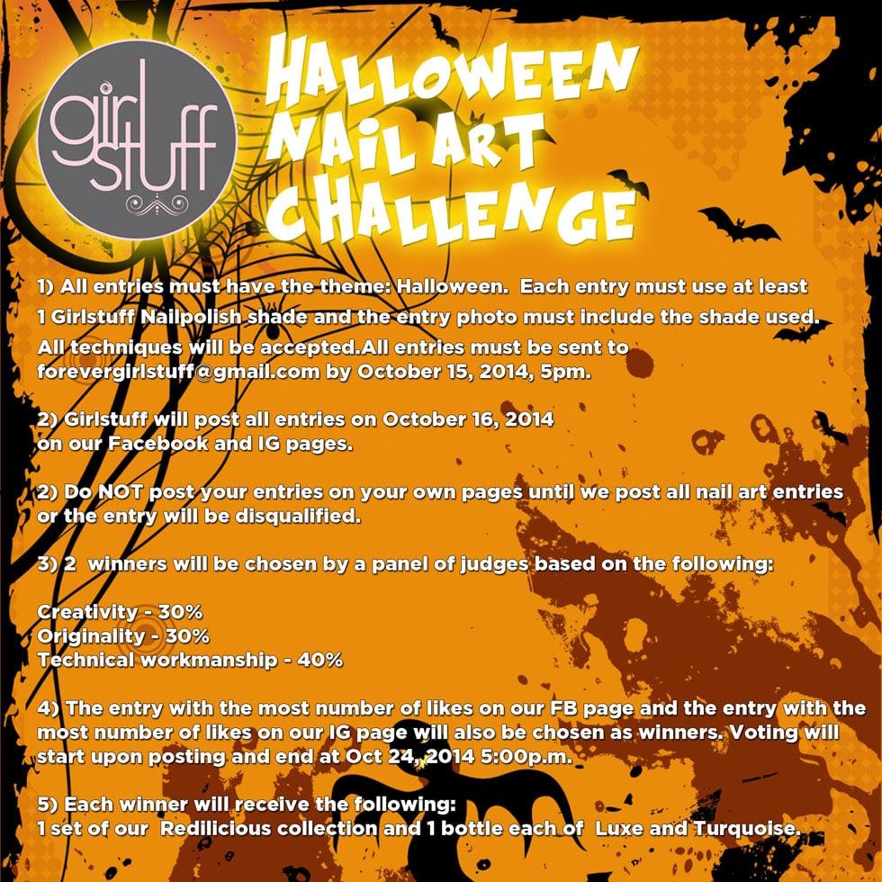 Poster - Halloween Nail Art Challenge 2014
